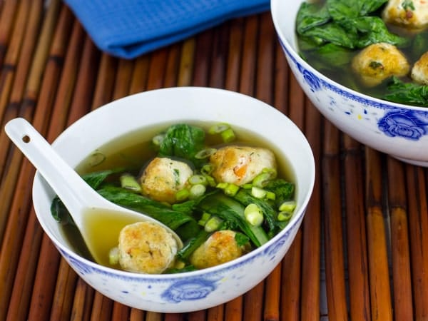 Chicken and Shrimp Meatballs in Star Anise Broth-3