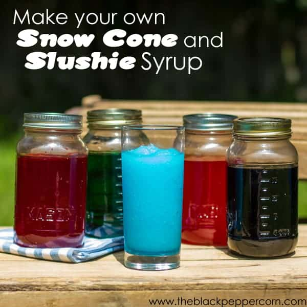 Make your own slushie syrup text