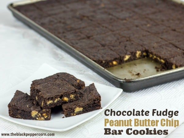 Chocolate Fudge and Peanut Butter Chip Bar Cookie Recipe