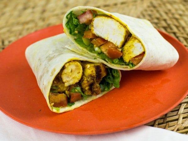 Tandoori Ranch Chicken Wraps-3