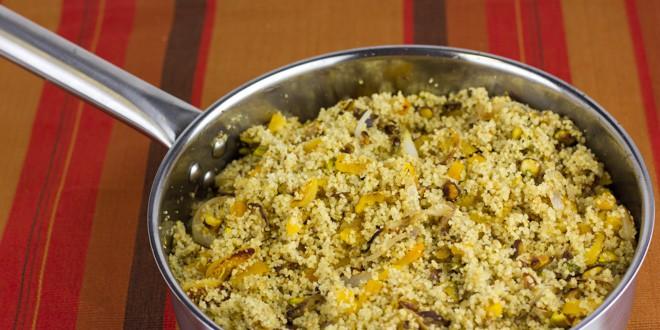 Couscous With Pistachios Recipe — Dishmaps