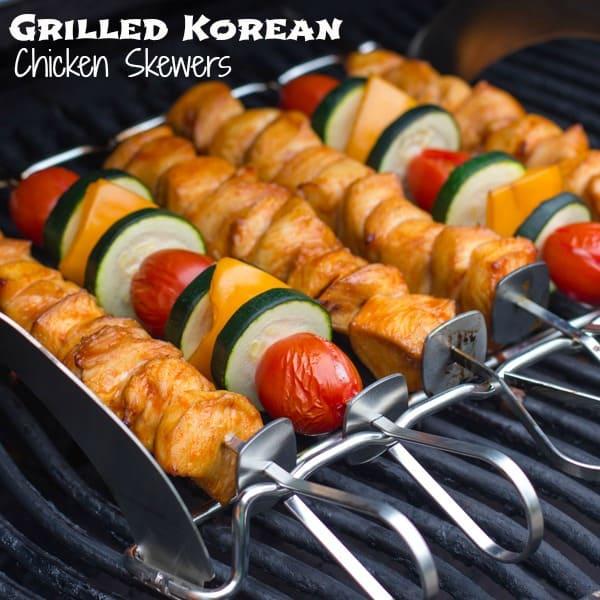 Grilled Korean Chicken Skewers text