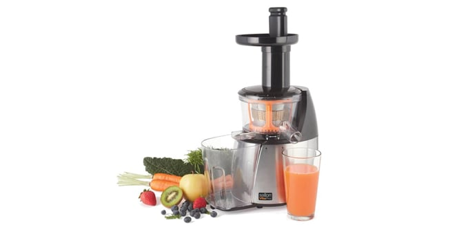 Low Speed Juicer Reviews : Salton vitaPro Low Speed Cold Pressed Juicer Product Review