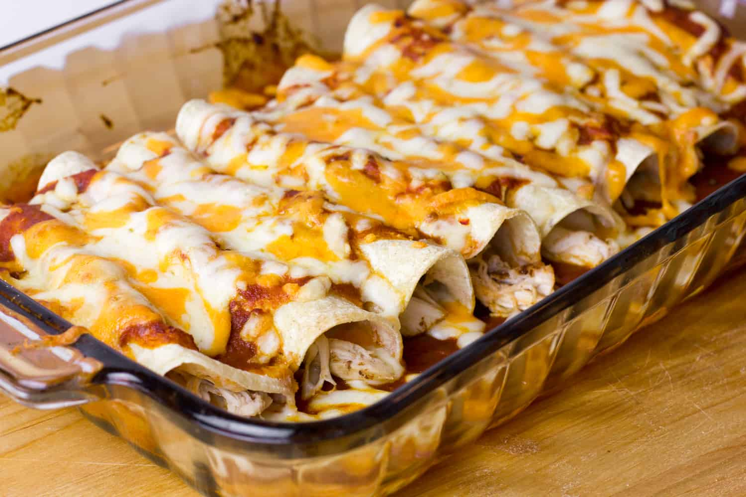 Chicken Enchiladas With Red Sauce Easy Recipe