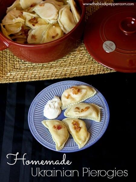 Homemade Ukrainian Pierogies