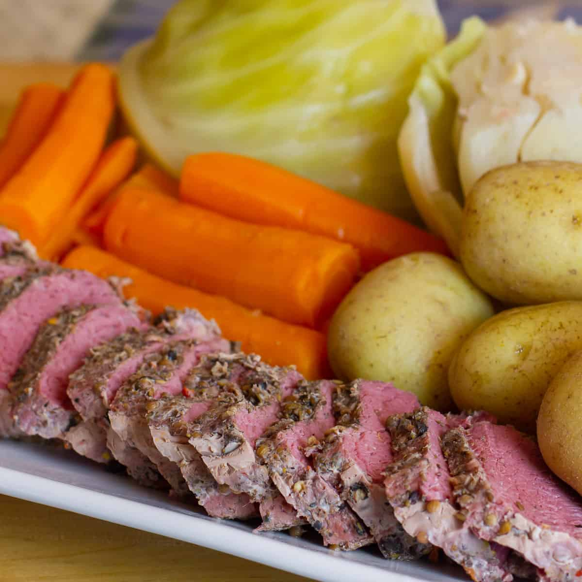 A plate of Irish boiled dinner
