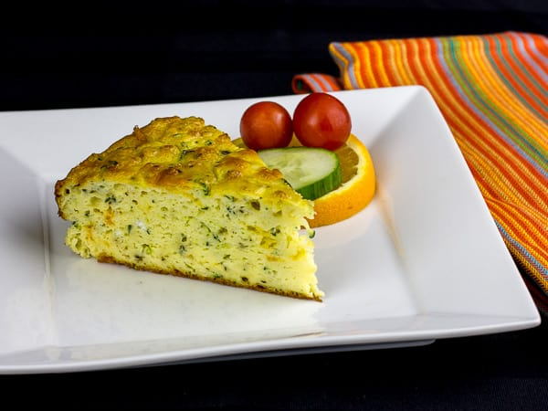 Zucchini Breakfast Bake - Crustless Quiche Recipe