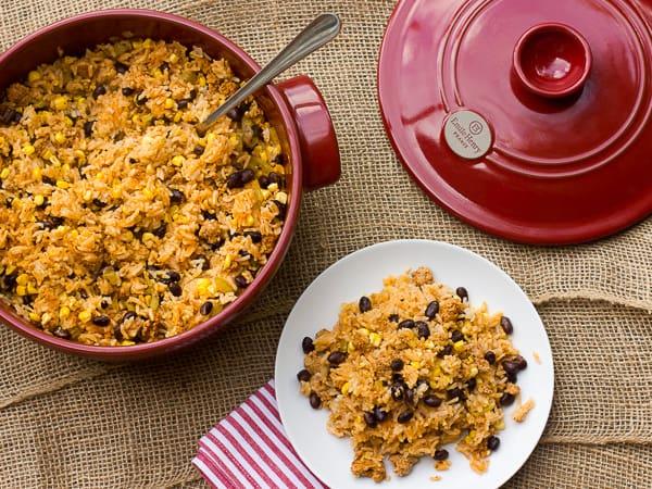 Chorizo Black Bean and Corn Jambalaya
