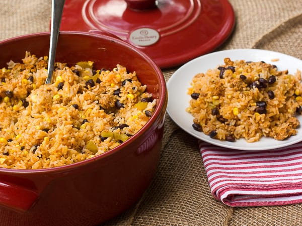 Chorizo Fiesta Rice Bake-2