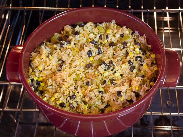 Chorizo Fiesta Rice Bake-4
