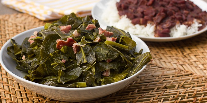 how to cook smoked ham hocks and collard greens