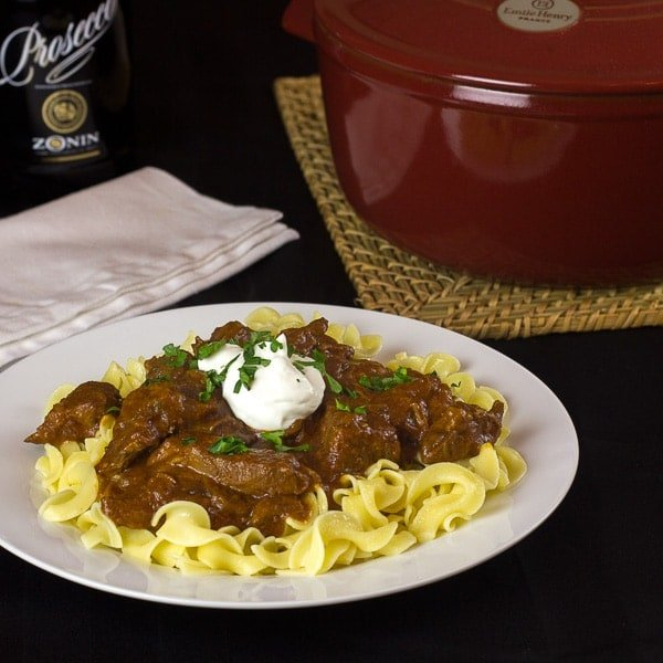 Beef Goulash Recipe with egg noodles - Hungarian Paprika