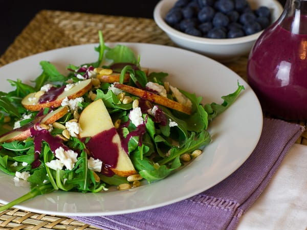 Arugula Salad with Apple, Feta, Pine Nuts and Roasted ...