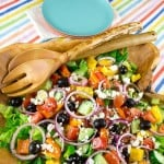 Easy to make Greek salad with simple dressing.