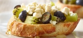 Kiwi, Blueberry and Feta Bruschetta Recipe Challenge