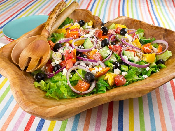 Homemade Greek Salad Recipe Dressing And Ingredients