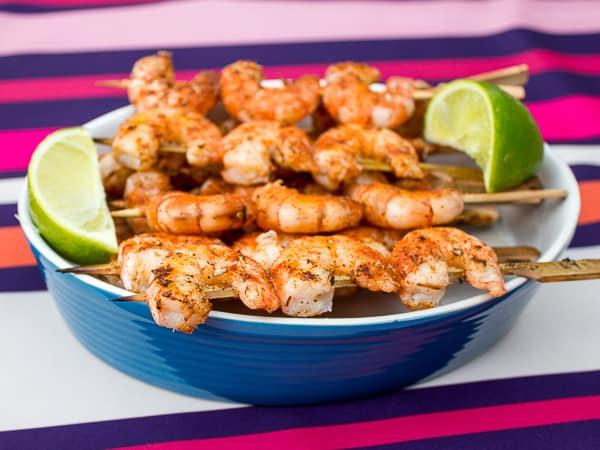 Grilled Cajun Shrimp Skewers-4