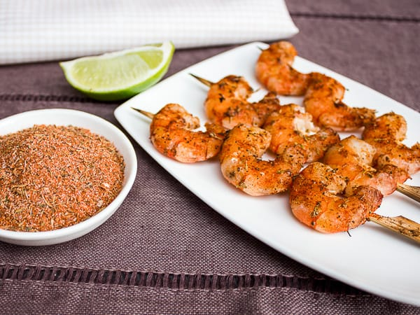 Grilled Cajun Shrimp Skewers-7