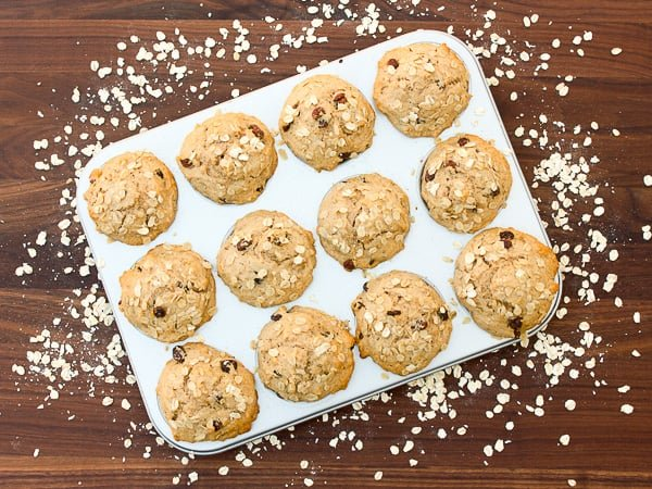 Leftover Oatmeal Muffins-3