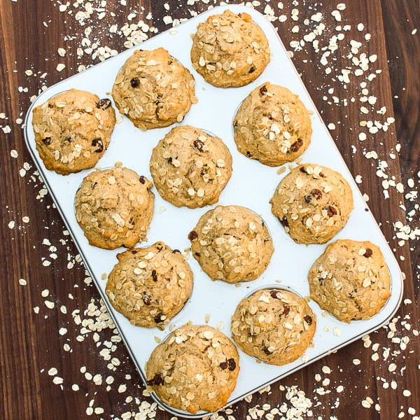 Leftover Oatmeal Muffins-4