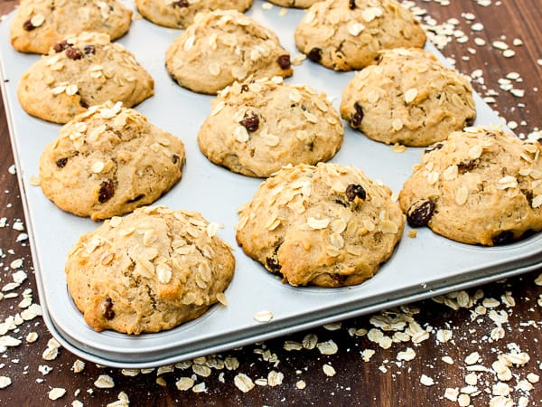 Leftover Oatmeal Muffins-5