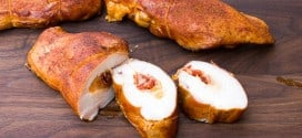 Smoked Chicken Breast Stuffed with Cheese and Chorizo