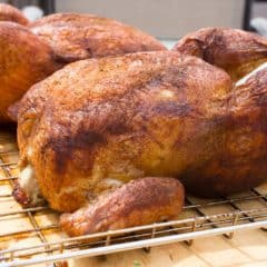 How to smoke a whole chicken in an electric smoker or pellet grill