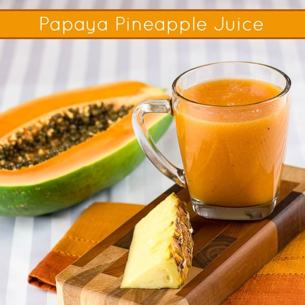 Papaya Pineapple Juice-pinterest