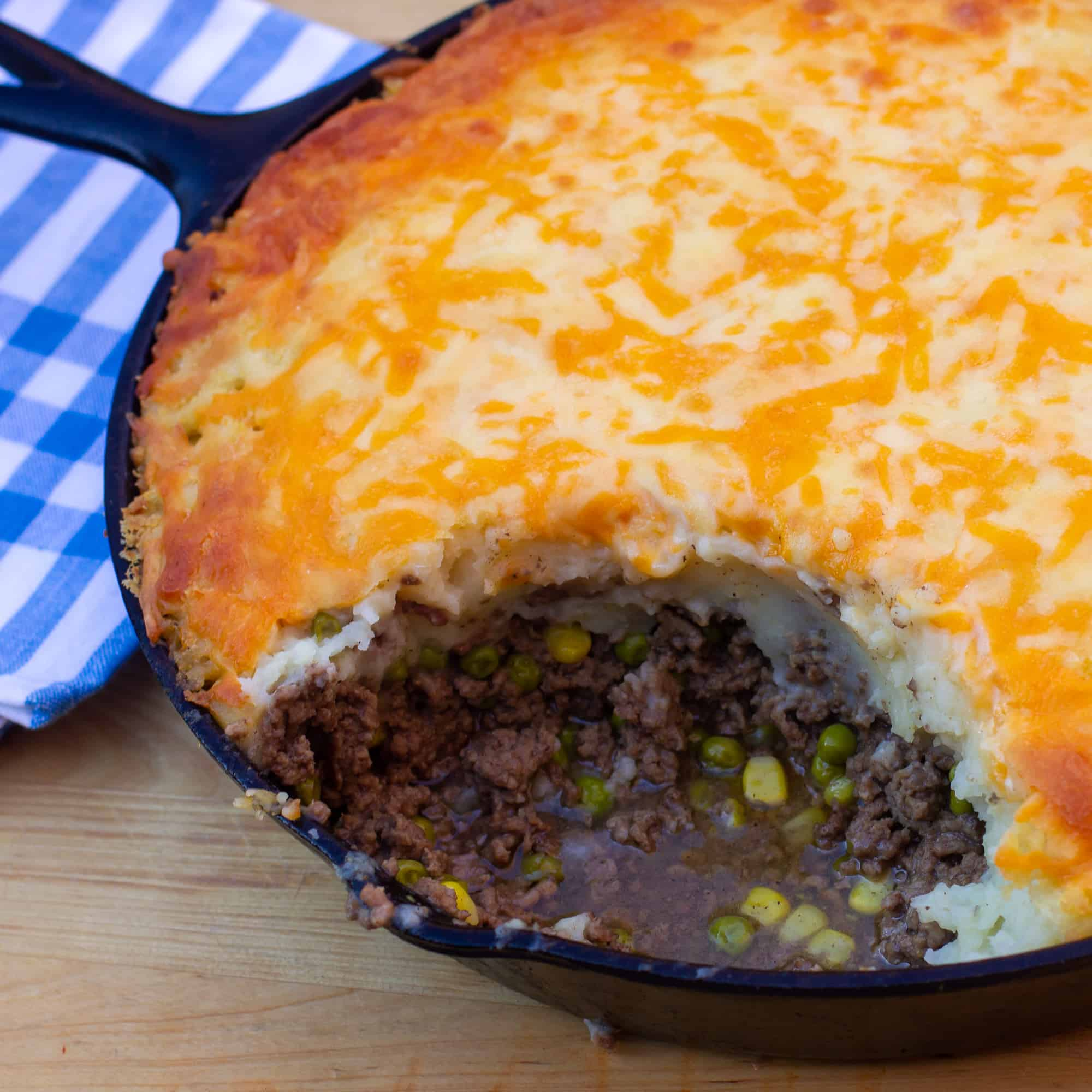 How to make a shepherd's pie in a cast iron skillet