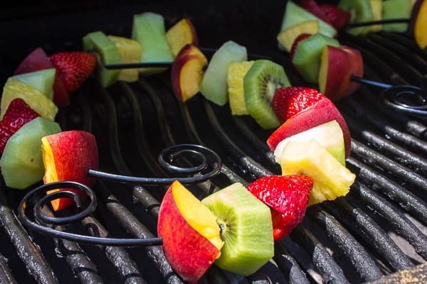 Grilled Fruit Skewers with Creamy French Vanilla Dip-3