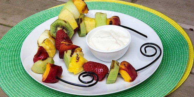 Grilled Fruit with French Vanilla Dip