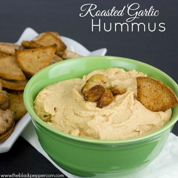 Roasted Garlic Hummus-5 pin