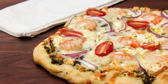 Shrimp and Pesto Pizza