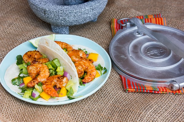 Grilled Chipotle Shrimp Tacos with Mango and Cilantro Salad-5