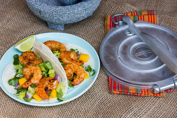 Grilled Chipotle Shrimp Tacos with Mango and Cilantro Salad-7