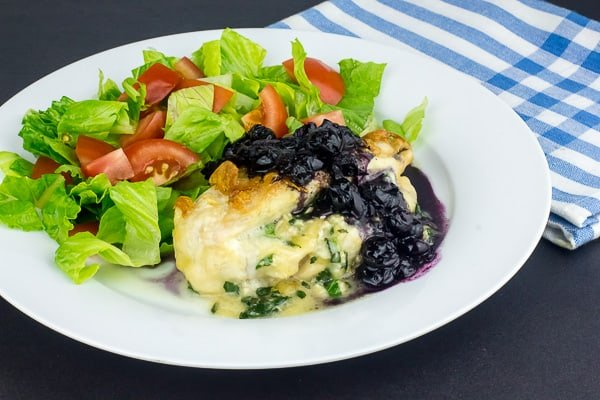 Maple Blueberry Chicken Stuffed with Canadian Brie and Basil Creme-6