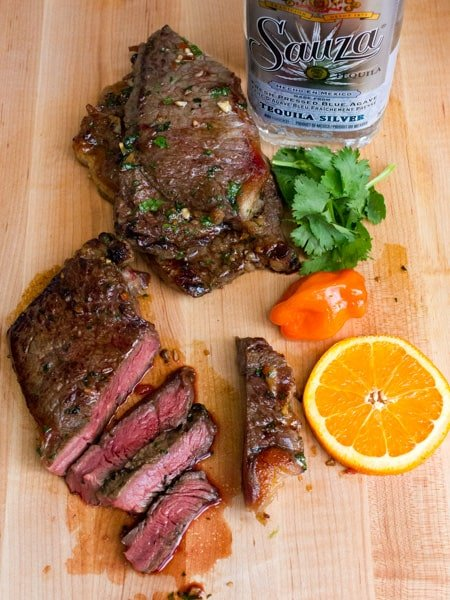 Grilled Tequila Habanero Orange Marinated Steak-11
