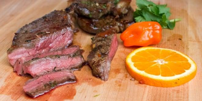 Grilled Tequila Habanero Orange Marinated Steak Recipe