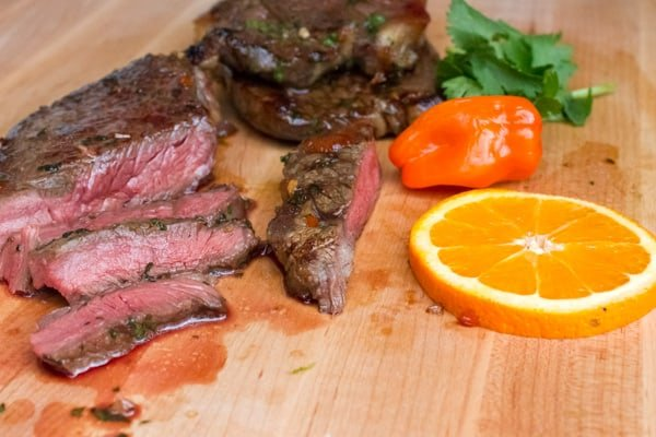 Grilled Tequila Habanero Orange Marinated Steak-7