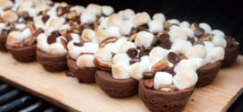 Plank Grilled Rocky Road Brownies