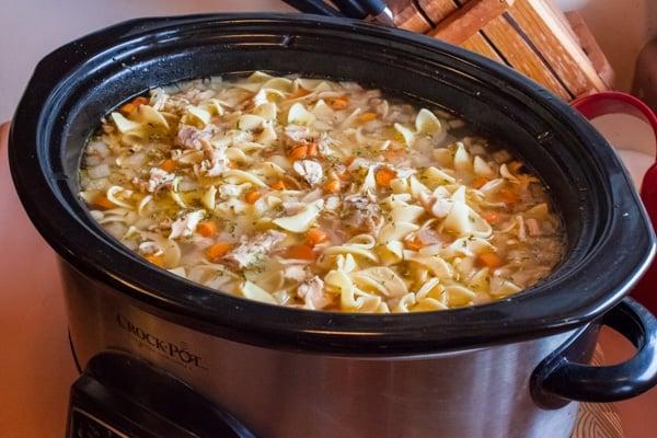 Crock Pot Chicken Noodle Soup-2