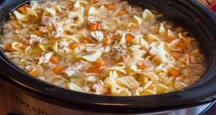 Crock Pot Chicken Noodle Soup-3