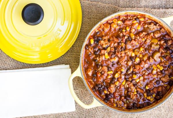 Smoked Pork Black Bean and Corn Chili-10