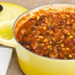 Smoked Pork Black Bean and Corn Chili-6