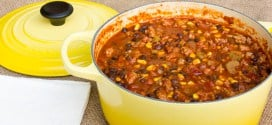 Smoked Pork, Black Bean and Corn Chili