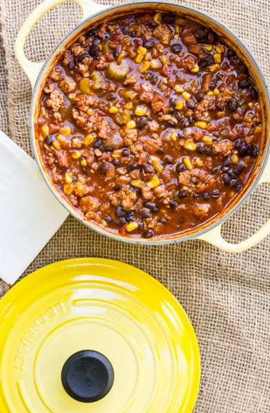 bean and corn chili gets its smoke from pantry smoky turkey black bean ...