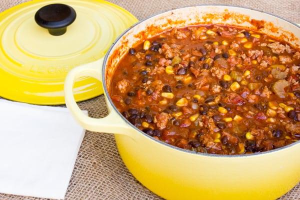 Smoked Pork Black Bean and Corn Chili-9