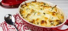 Cheesy Ranch Brussels Sprout Bake