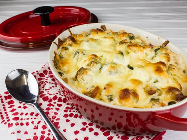 Cheesy Ranch Brussels Sprout Bake-6
