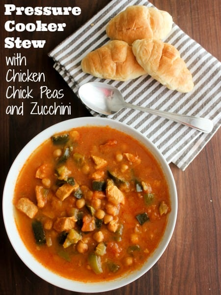 Pressure Cooker Chicken Chick Pea and Zucchini Stew-pin